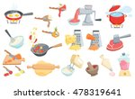 cooking process set. boil water ... | Shutterstock .eps vector #478319641