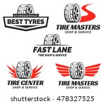 Set Of Tyre Shop Logo Design....