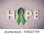 lime green ribbon with hope