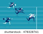 race. businessmen running down... | Shutterstock .eps vector #478328761