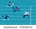 race. businessmen running down... | Shutterstock .eps vector #478328761