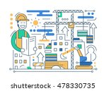 construction site   vector... | Shutterstock .eps vector #478330735