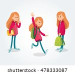 cute girl character with... | Shutterstock .eps vector #478333087