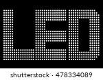 white led symbol  at black...   Shutterstock .eps vector #478334089
