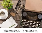 vintage typewriter on the old... | Shutterstock . vector #478335121