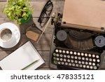 vintage typewriter on the old... | Shutterstock . vector #478335121