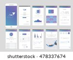 mobile application interface... | Shutterstock .eps vector #478337674