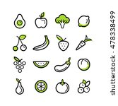 vector set of icons and... | Shutterstock .eps vector #478338499