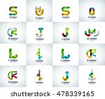 vector set of letter logo icons ... | Shutterstock .eps vector #478339165