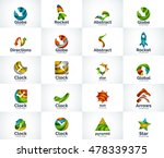 vector set of abstract unusual... | Shutterstock .eps vector #478339375