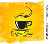 creative menu with coffee on a... | Shutterstock .eps vector #478340047