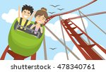 rollercoaster in amusement park.... | Shutterstock .eps vector #478340761