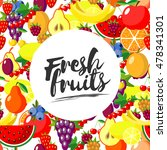 fresh fruits. vector background ... | Shutterstock .eps vector #478341301