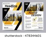 yellow flat modern brochure...   Shutterstock .eps vector #478344601