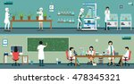 scientists are studying the... | Shutterstock .eps vector #478345321