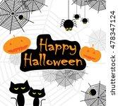 happy halloween   Shutterstock .eps vector #478347124
