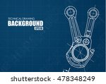 template blue background with... | Shutterstock .eps vector #478348249