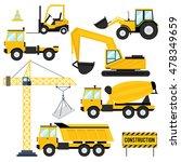 construction equipment flat... | Shutterstock .eps vector #478349659