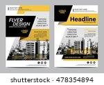 yellow brochure layout design... | Shutterstock .eps vector #478354894