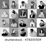 young fashion people icons... | Shutterstock .eps vector #478355509