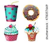 lollipop candy set. vector...