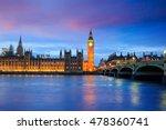 London Skyline With Big Ben An...