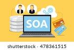soa service oriented... | Shutterstock .eps vector #478361515