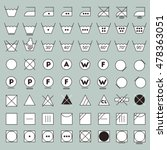 laundry symbols line design.... | Shutterstock .eps vector #478363051