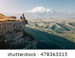 traveler sitting on top of... | Shutterstock . vector #478363315