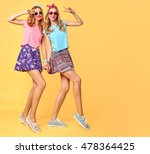 fashion hipster woman having... | Shutterstock . vector #478364425
