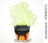 witches cauldron with green... | Shutterstock .eps vector #478365271