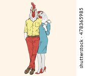 Fashion Couple Of Rooster And...