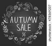 """autumn sale"". template with... 