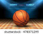 basketball court with ball and... | Shutterstock .eps vector #478371295