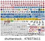 european german road traffic... | Shutterstock .eps vector #478373611