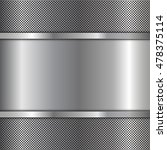 stainless steel metal plate... | Shutterstock .eps vector #478375114