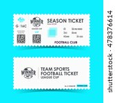 soccer  football ticket design. ... | Shutterstock .eps vector #478376614