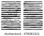 vector brush strokes.set of... | Shutterstock .eps vector #478381321