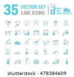 set vector graphic thin outline ... | Shutterstock .eps vector #478384609