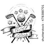 golf club emblem with golf... | Shutterstock .eps vector #478388701