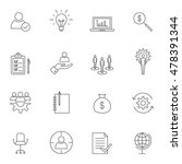 business icon set outline... | Shutterstock .eps vector #478391344