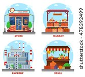 local store or shop  market and ... | Shutterstock .eps vector #478392499