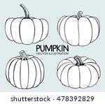 Vector Single Sketch Pumpkin....