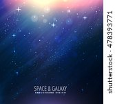 beautiful space background   Shutterstock .eps vector #478393771