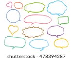 speech bubble natural  | Shutterstock .eps vector #478394287