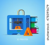 3d printing vector concept... | Shutterstock .eps vector #478395679