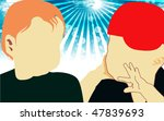 illustration of silhouette of... | Shutterstock . vector #47839693