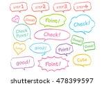 navigation pins set vector  | Shutterstock .eps vector #478399597