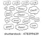 navigation pins set vector  | Shutterstock .eps vector #478399639