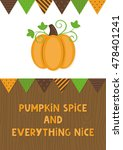 happy thanksgiving day card... | Shutterstock .eps vector #478401241